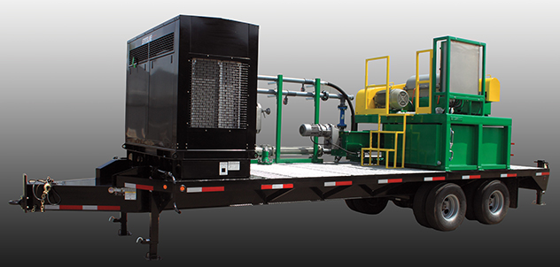 Elgin's mobile centrifuge system capable of up to 200 gpm fluid handling.